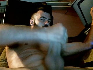 Sexy Bearded Stud Stroking His Juicy Meat