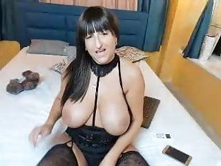 brunette with huge tits and huge nose on camHD Sex Videos