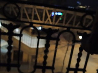 in 21 foreskin pissing at Me with Paris on night yo balconys