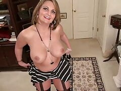 Busty cougar fingering herself 1