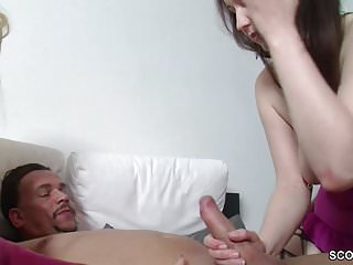 German Mom Help Step-Daughter to Fuck With Step-Dad