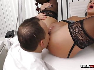 Hardcore Stockings Homemade video: Hot babe at the office gets plowed hard