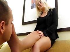 Good Boy Worships Mistress Nylon Smelly Feet
