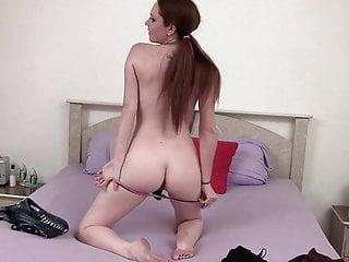 Raine has huge dildo intensive masturbation with a big blast