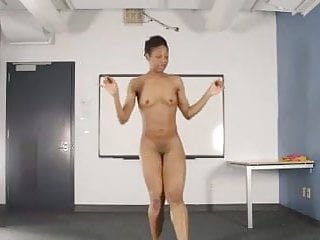 Nude woman teaching bhangra dance...