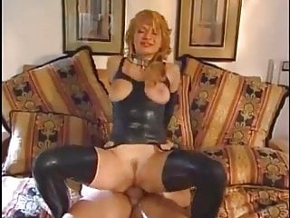 loving used in holes MILF beauty in Latex being all