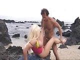 Cum Rocket Hit Blonde in the Sand