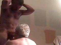 grandpa on his knees sucking big dickfree full porn