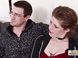Redhead tattooed MILF steals her sister's boyfriend