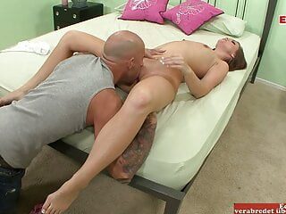 Skinny Teen with small tits picked up on the street by a big cock