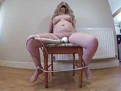 wife gagged and Tied to chair – vibrator