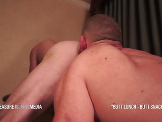 Two sexy jocks take turns rimming each other