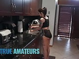 Tattoed couple make sextape in the kitchen - Trueamateur