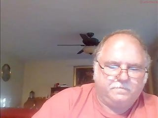 Chubby grandpa cum in cam
