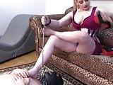 Slave worships his femdom mistress´s heels