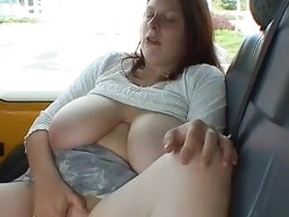 chubby girl with big tits flashing in train