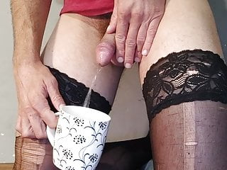 Drinking playing with dildo...