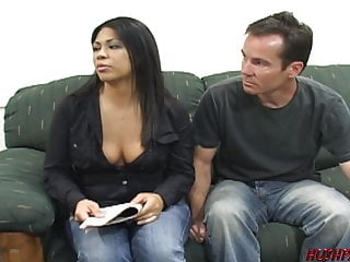 Housewife fucks dude for money as husband watches