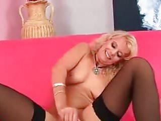 Nylons dildo pussy...