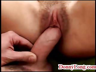 Gives huge messy creampie to cheating wife milf...