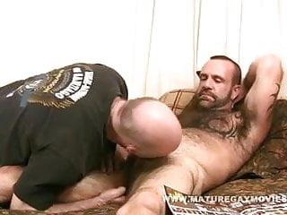 Muscular bear fucked good by mature friend...