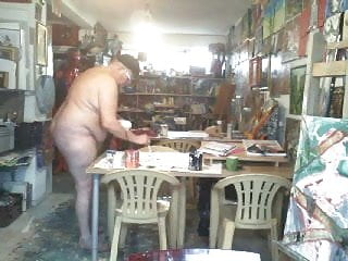 Fat nudist guy bhm fkk...
