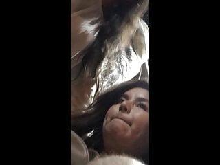 Voyeur Flashing Teen video: girl looks at me the bulge on the bus
