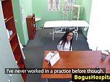 Cocksucking euro nurse fingered on desk