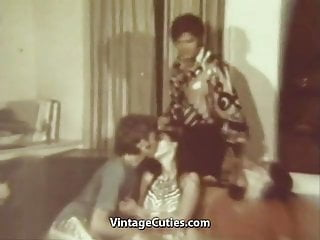 Ordinary evening turns in a fervent orgy 1960s...
