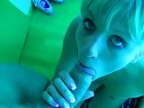 cute blonde sex in the tanning room