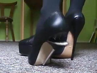 Bending and breaking stilettos high heels