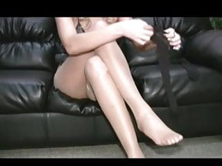 Hayley teasing in pantyhose