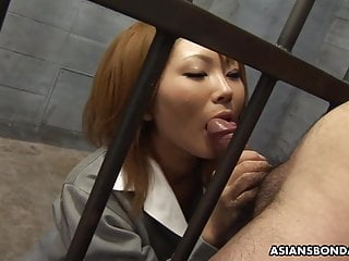 Japanese fuck doll, Rio Haruna is eagerly sucking dick, unce