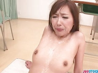 Natsuki yoshinaga is an giving blowjob to a...
