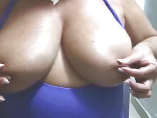 Suzy tweaking nipples...
