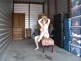 Kim nude posing outdoor.