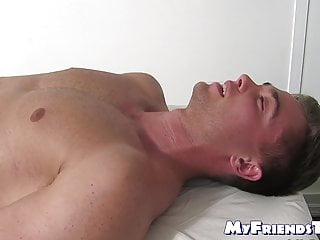Hunk with foot fetish smells feet and licks naked toes after