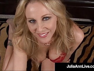 Lingerie Pov movie: Mommy We'd Like To Fuck - Julia Ann Milks Cock With Mouth!