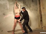 Submissed.com Brunette bound, stripped and vibed