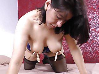 Anabella loves orgasmic nipple play...