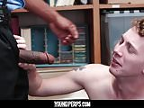 YoungPerps-Security guard barebacks young punk with attitude