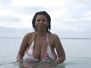 Busty dominican milf beach softcore...