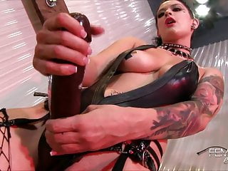 Mistress Katrina Jade's Big Black Strap-on Cock!