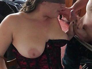 Blindfolded wife take stranger cock