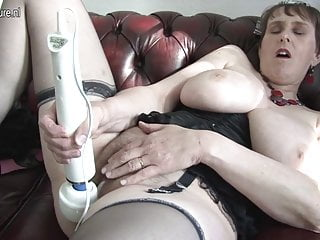 British granny loves to play with her funbox