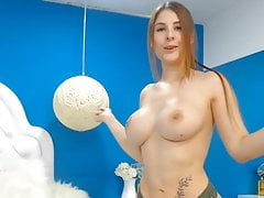 Busty Babe Finger Fucked Her Wet Pussy