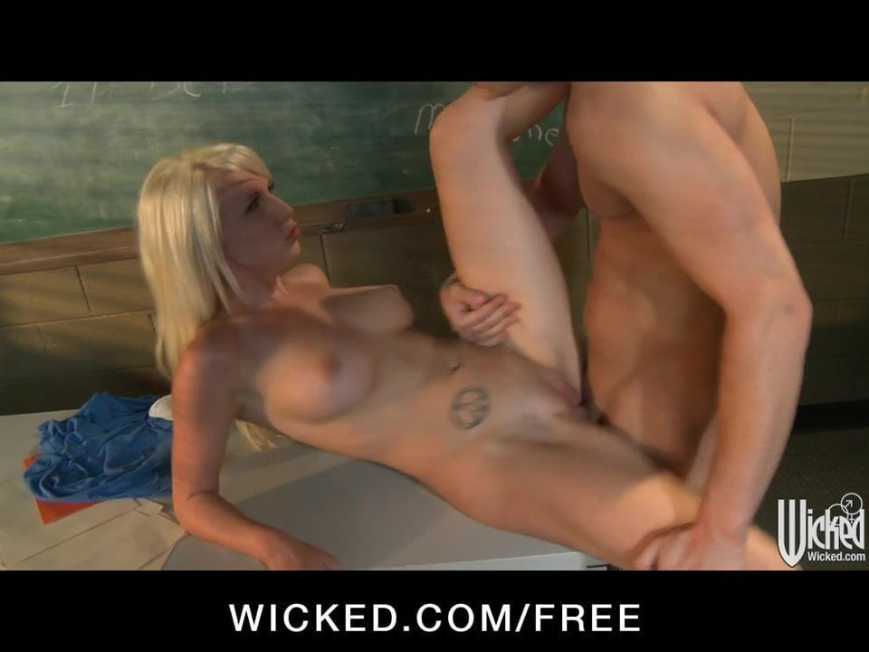 Teen Blonde Interracial Anal
