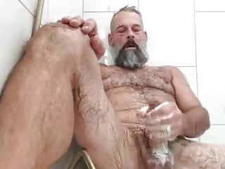 Shower with bear...