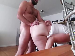 Pet slut gets bent over and wrecked
