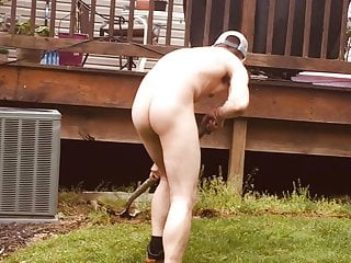 Kevin my car wash guy working naked landscaping  Part 2